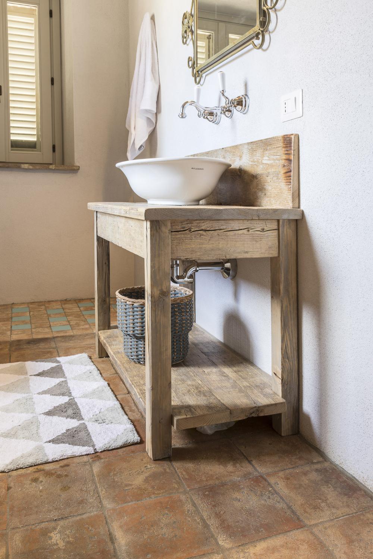 wooden bathroom sink stand