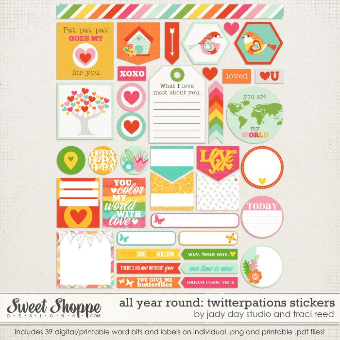 All year round twitterpations stickers by traci reed and jay day studio