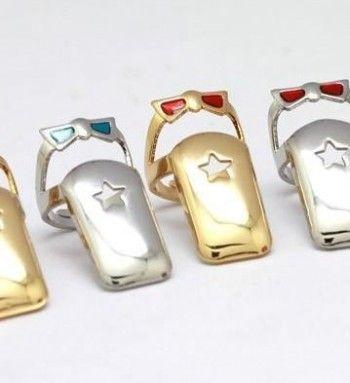 Bow Star Fingernail rings | JuDeLovesYou