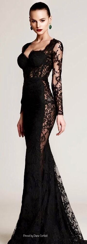 Black Evening Gown Image by Diane Corfield-Hall | Stunning Outfits ...