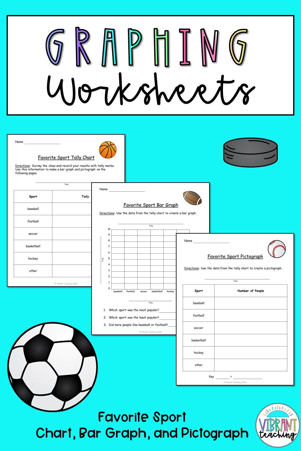 Graphing Worksheets Favorite Sport Graphing Worksheets Bar Graphs Kids Worksheets Printables [ 1440 x 960 Pixel ]
