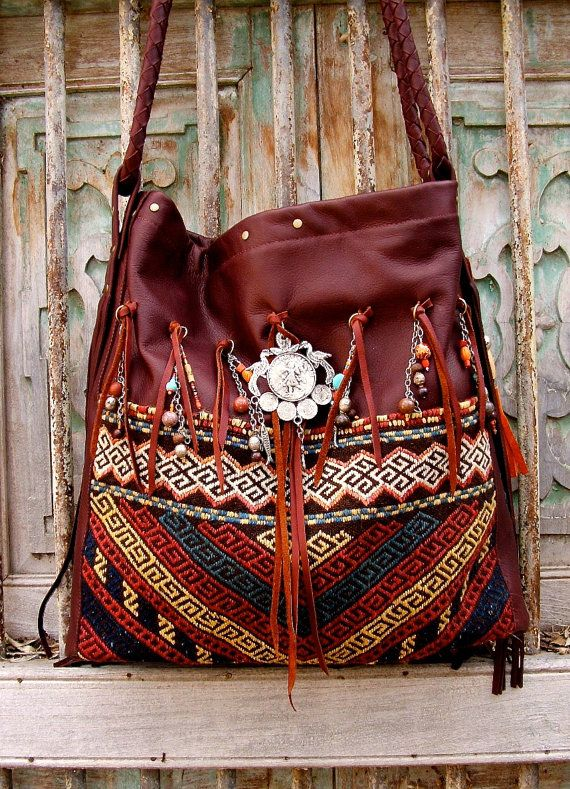 Global cowgirl Hobo...Vintage berber rug with soft by SpiceTrade, $335.00
