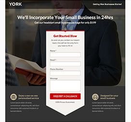 unbounce landing page template york page template. Black Bedroom Furniture Sets. Home Design Ideas