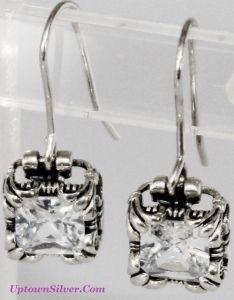 db0c6e03f Silpada Jewelry Cubic Zirconia Uptown 925 Sterling Silver Fleur De Lis  Earrings