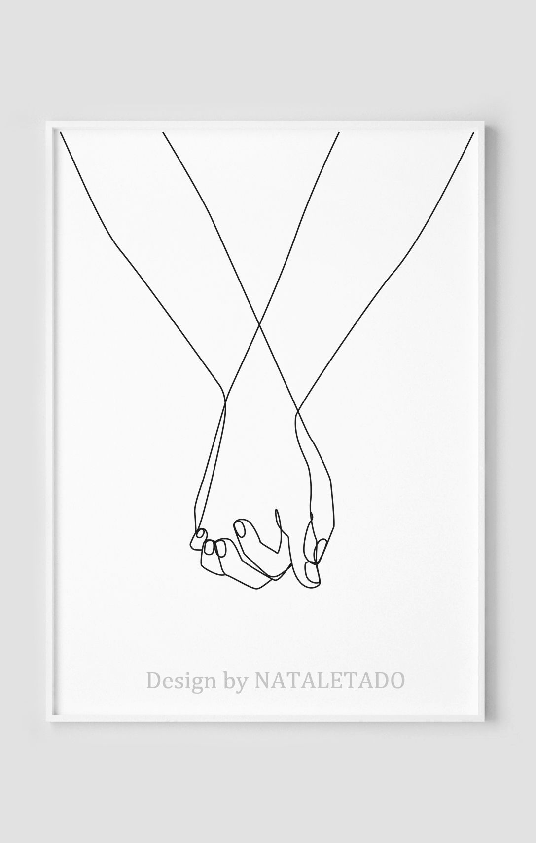 Hand Poster Line Drawing Print Holding Hands Art Printable Wall Art Couple Abstract Print Black And White Artwork Home Wall Decor Line Drawing Drawing Prints Line Art Drawings