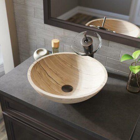 Home Improvement Sink Waterfall Faucet Vessel Sink