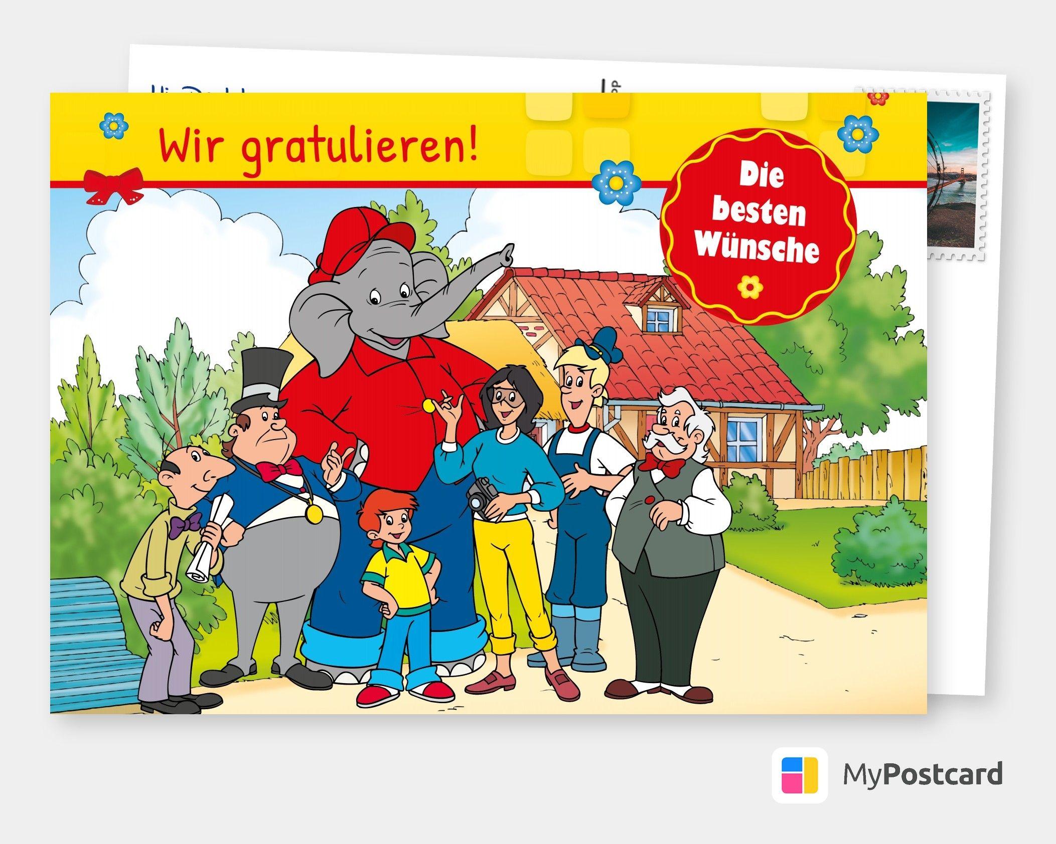 Benjamin Blumchen Wir Gratulieren Comic Cartoons