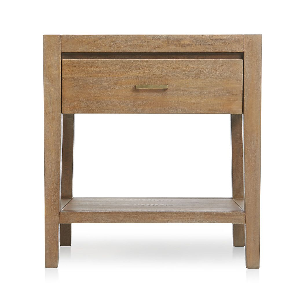 Dawson Grey Wash Nightstand Reviews Crate And Barrel Washed