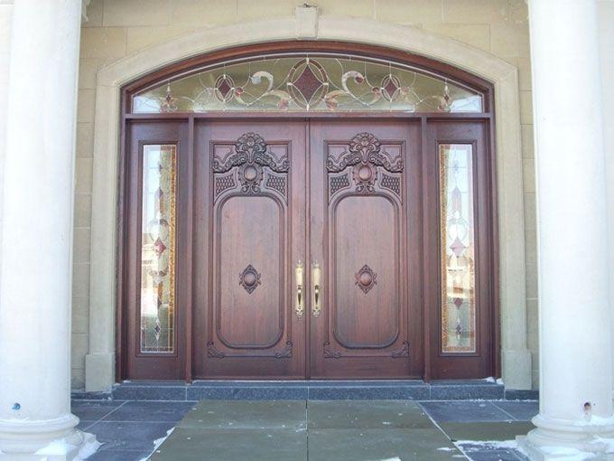 Portes Dentrée En Bois Portes Bourassa Portes Dentrée En Bois - Double porte d entrée
