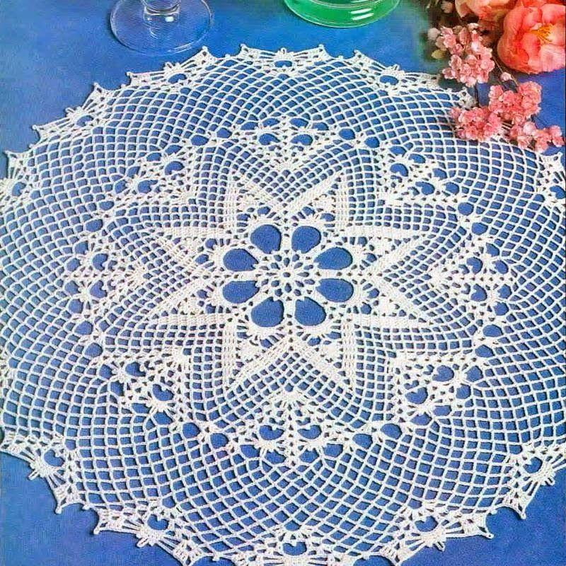 Crochet Art: Crochet Tablecloth Pattern - Large Lace Dolly