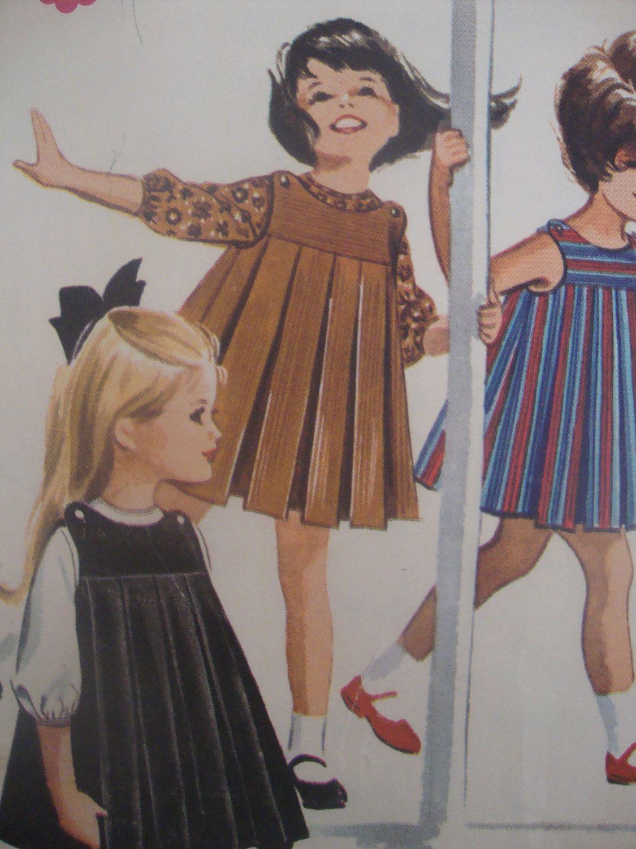 LOVELY vintage 1963 girls DRESS jumper blouse mccalls sewing pattern ...