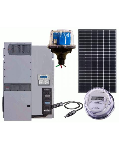 Off Grid Solar Power Kit With 3840 Watt Of Panels And 4000 Watt 48vdc 120 240vac Inverter Charger Solar Energy Panels