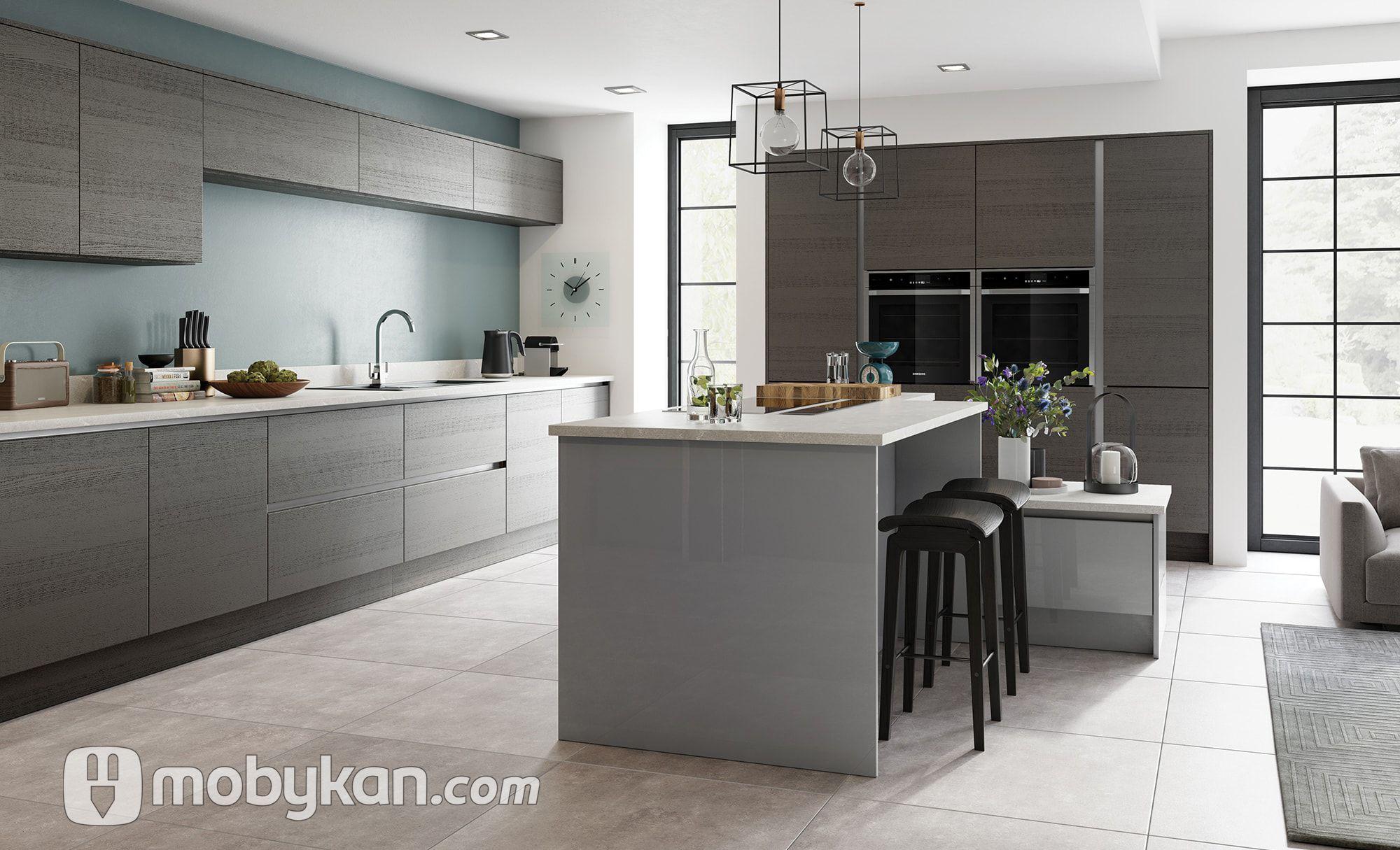 اشكال مطابخ مختلفه و صور مطابخ مميزه و جديده من موبيكان Modern Kitchen Grey Shaker Kitchen Kitchen Styling Modern