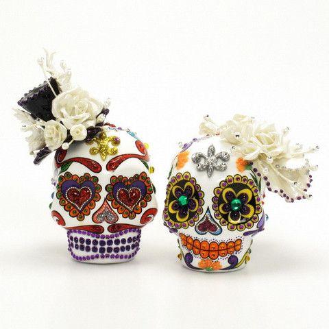 Dia De Los Muertos Wedding Cake Toppers Skull Day of the Dead ...