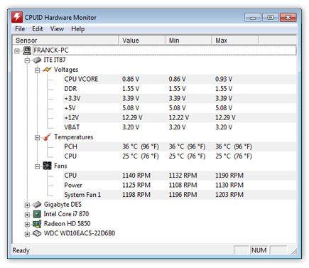 HWMonitor :: hardware monitoring program    reads PC system main