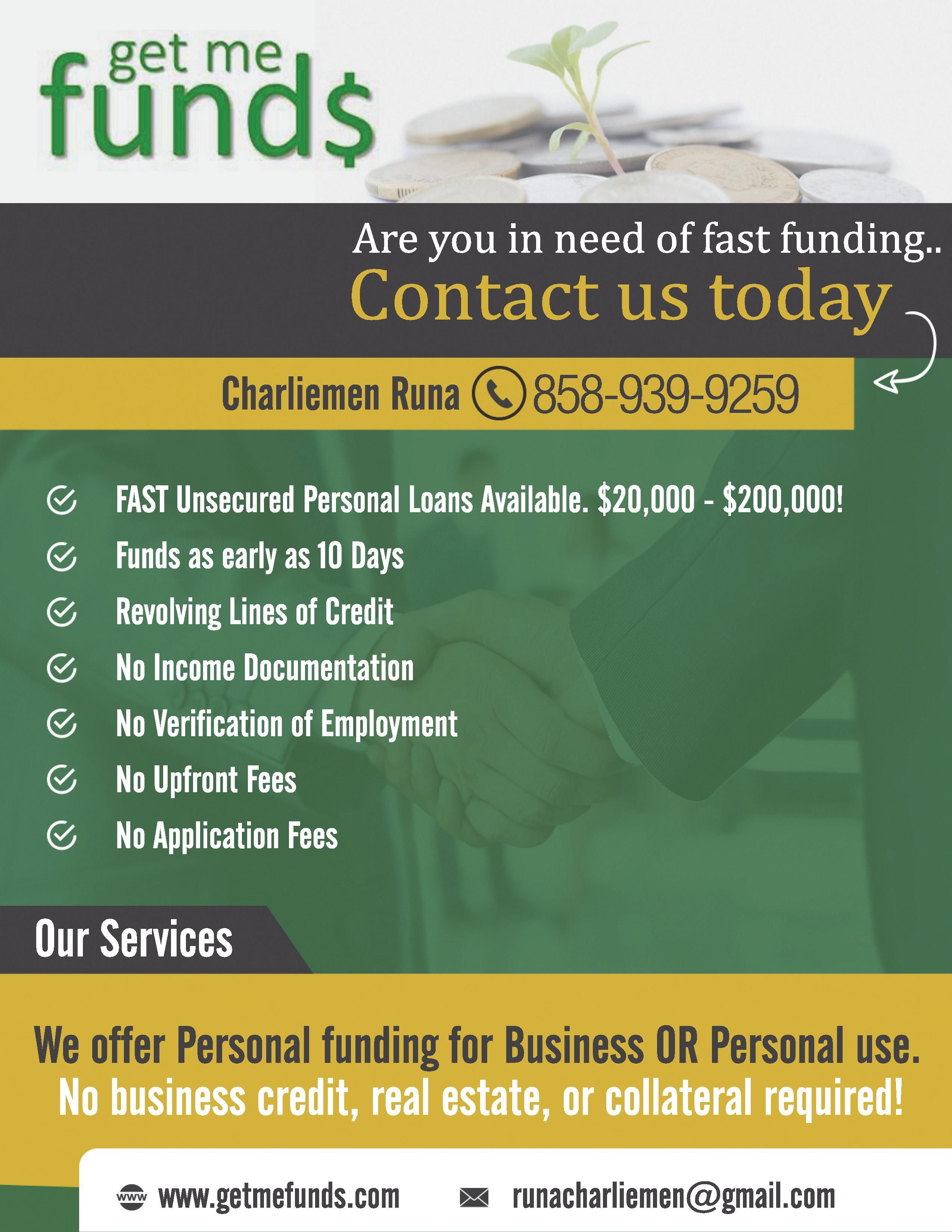 Loan Offer Requirements At Least 650 Credit Score No Income Docs No Employment Verification No Bank Statement And No It Line Of Credit Personal Loans Loan