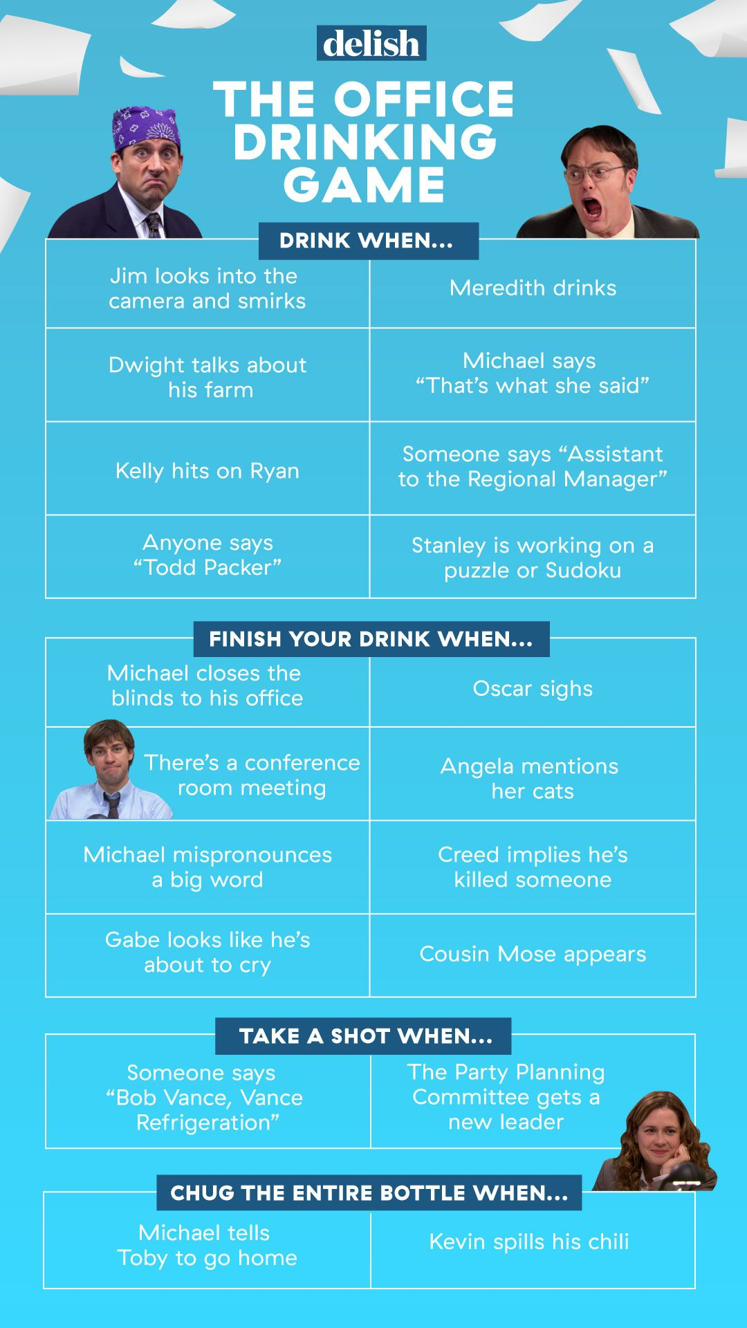 The Ultimate 'The Office' Drinking Game to Play With Friends