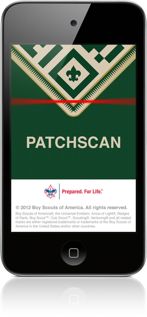 PatchScan on iPhone Boy scouts of america, Patches
