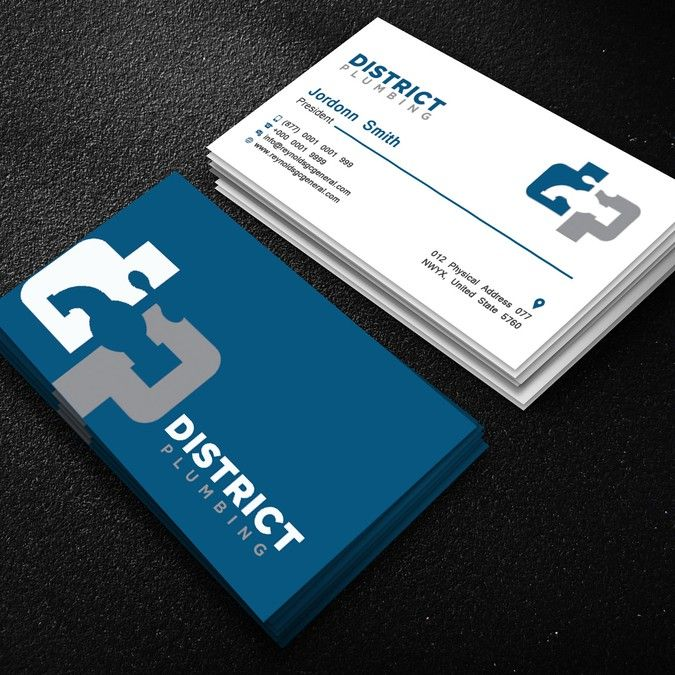 Freelance Modern Plumbing Business Card By Mehedigd