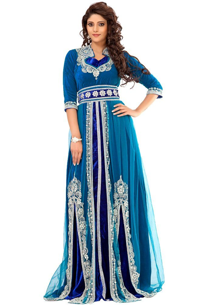 teal blue wedding dress alternative wedding dress Palas Fashion Women s  Moroccan Bridal Kaftan Takchita at Amazon Women s Clothing store  7cf9071867f