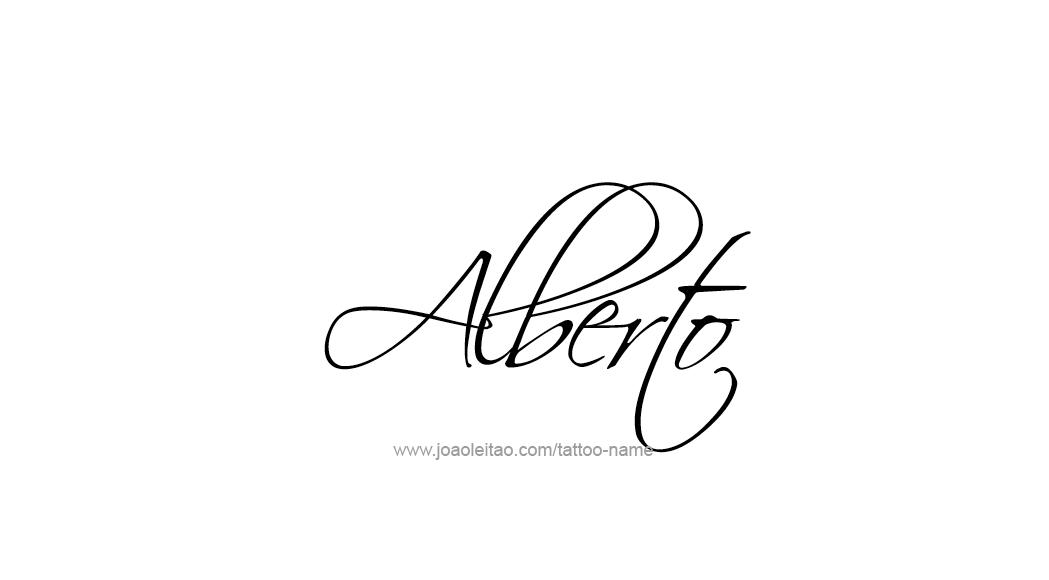 Alberto Name Tattoo Designs Tatuajes De Nombres Tatuaje De Nombre Infinitos Con Nombres