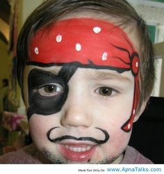 Pirate Play Week Pirates Painting Design For Boys Face Ideas