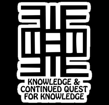 T Shirt Adinkra Symbol Quest For Knowledge Sticker By Keith Richardson Adinkra Symbols African Symbols Adinkra