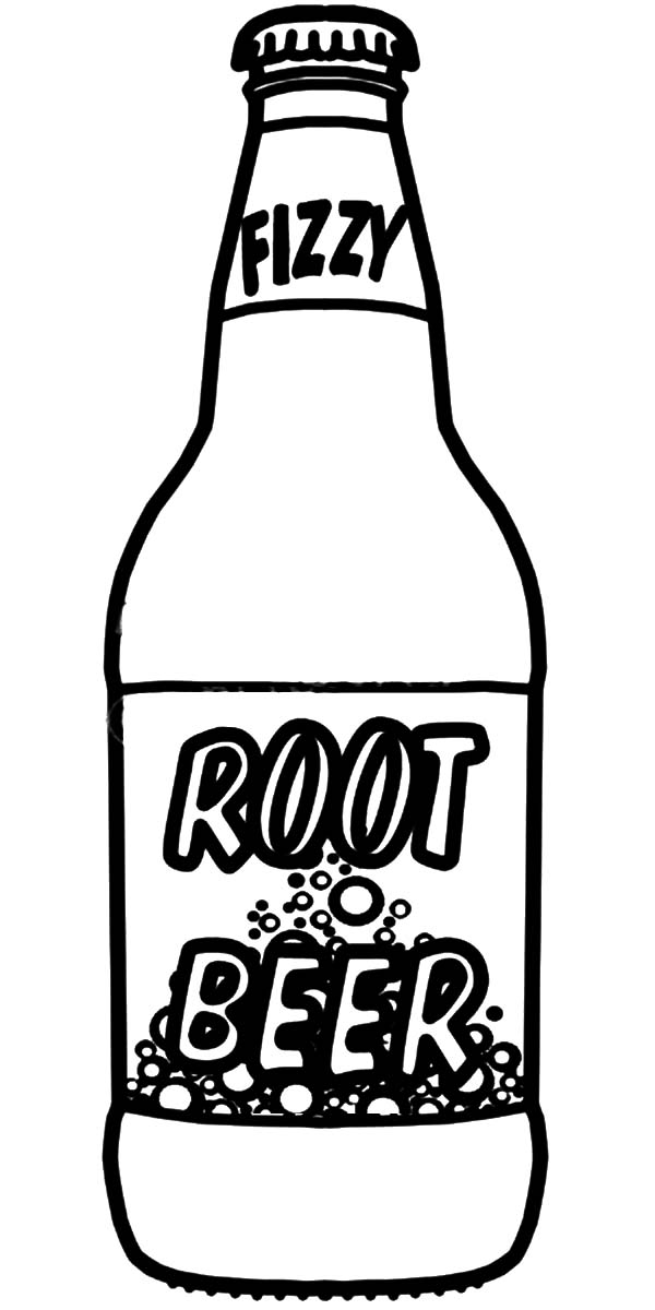 Root Beer Bottle Coloring Pages Best Place To Color Root Beer Bottle Beer Bottle Template Beer Bottle Drawing