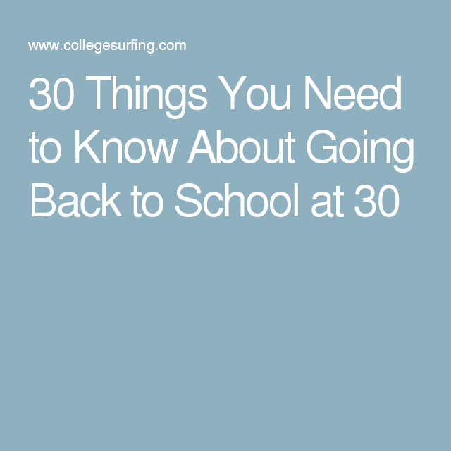 how to go back to college at 30