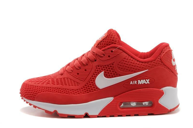 Women's Nike Air Max 2014 Shoes Red White