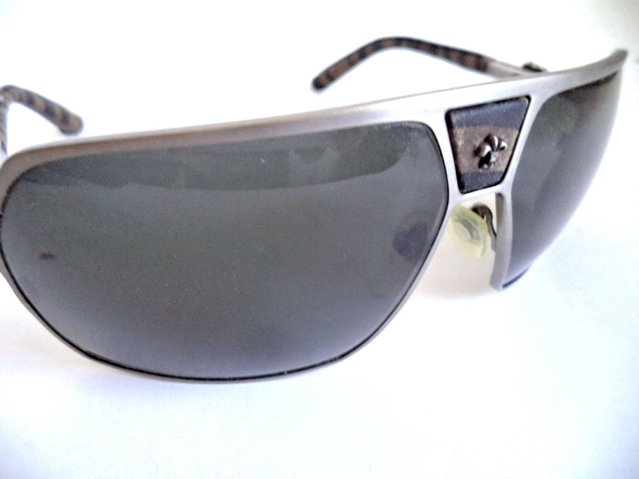 Chrome Hearts Vintage Unisex Aviators Wrap Sunglasses Antique Silver ...