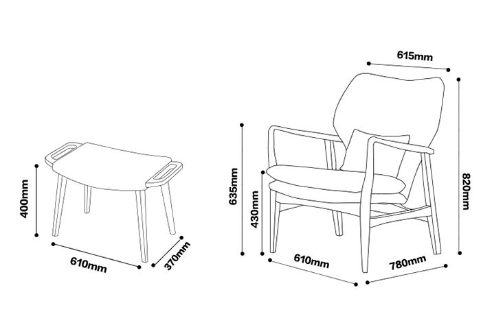 Lounge Chair Dimensions Standard