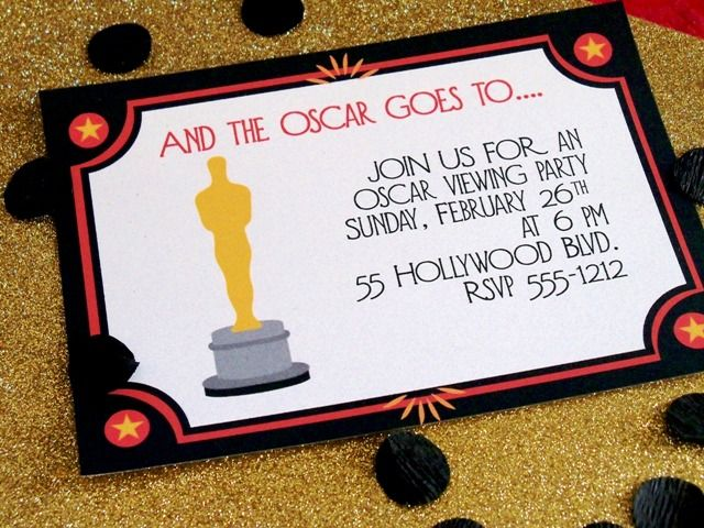 Oscar party invitation by cupcake wishes birthday dreams for Django oscar templates