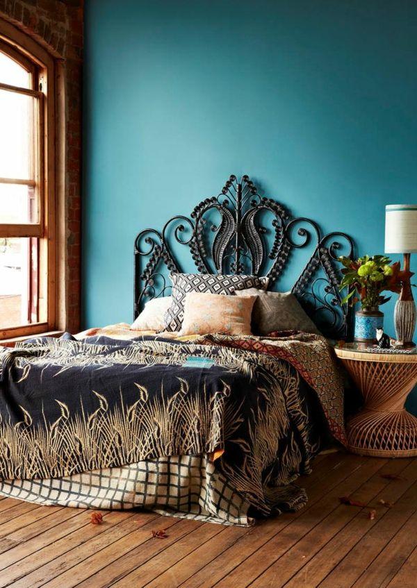 bett kopfteil modern gepolstert wandfarben Home Deko Pinterest