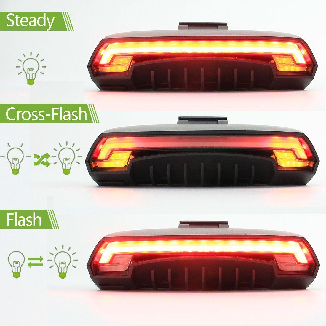 REDLINE LASER LIGHT LANE WITH 5 LED TAIL BACK BIKE CYCLE SAFETY LIGHT