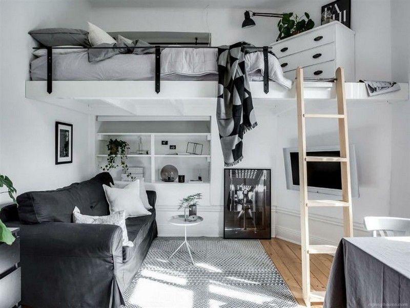 50+ Totally Cool Tiny Apartment Loft Space Ideas | Loft ...