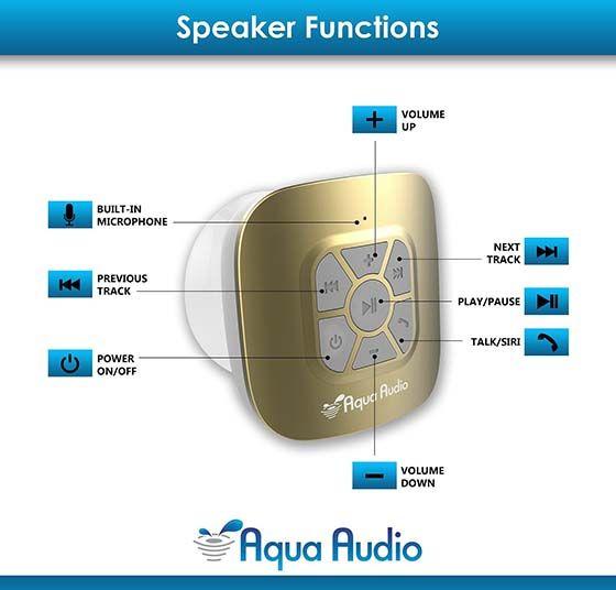 10. The AquaAudioTM Cubo Waterproof Bluetooth Wireless