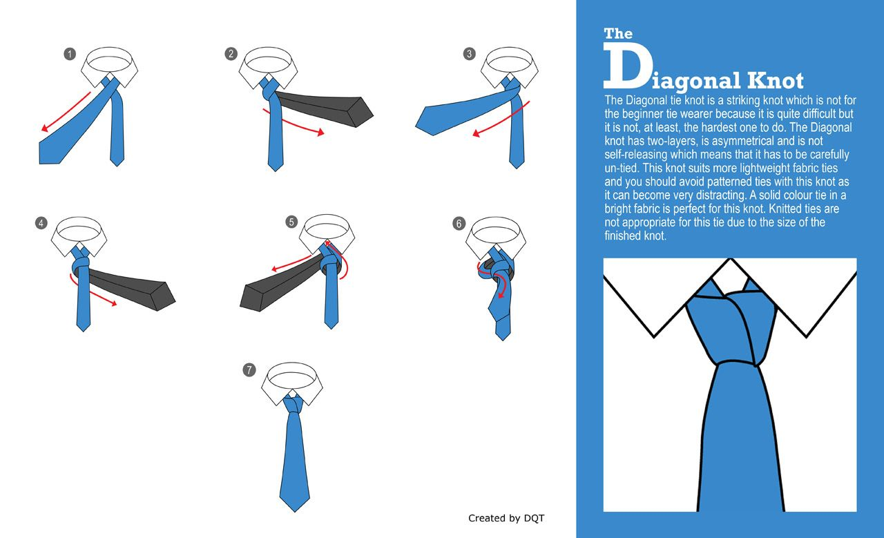 How To Tie A Diagonal Knot By Dqt Things For My Husband