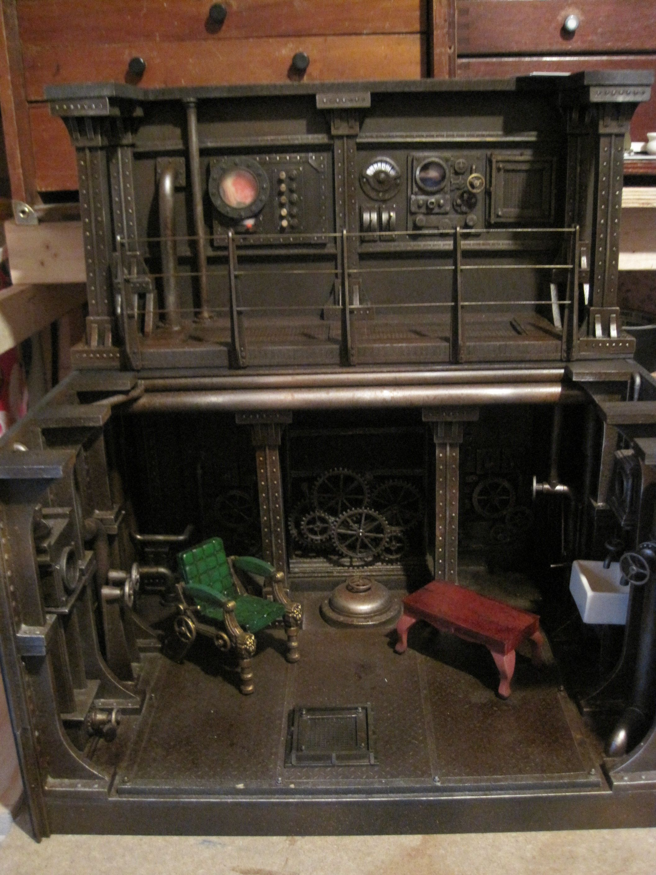 12Th Scale Steampunk Roombox By Mike Kelm