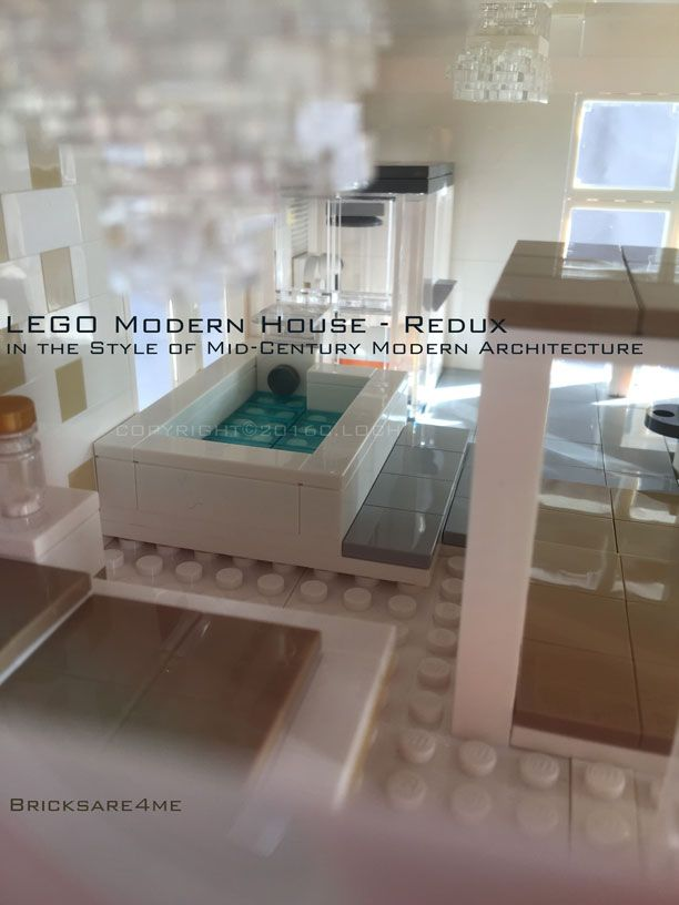 Modern Architecture Lego lego modern house - redux - in the style of mid-century modern