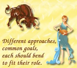 Taurus female aquarius male compatibility
