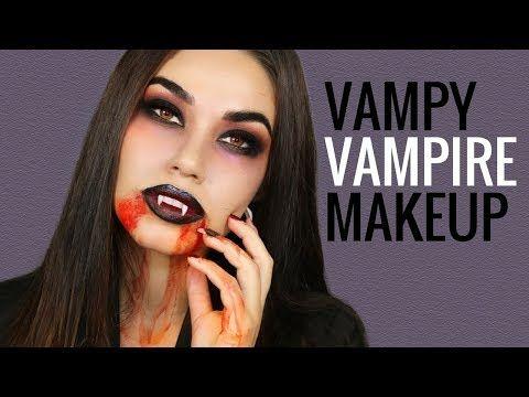 Vampire Halloween Makeup Tutorial Easy DIY Halloween Costume 2017 - easy makeup halloween ideas