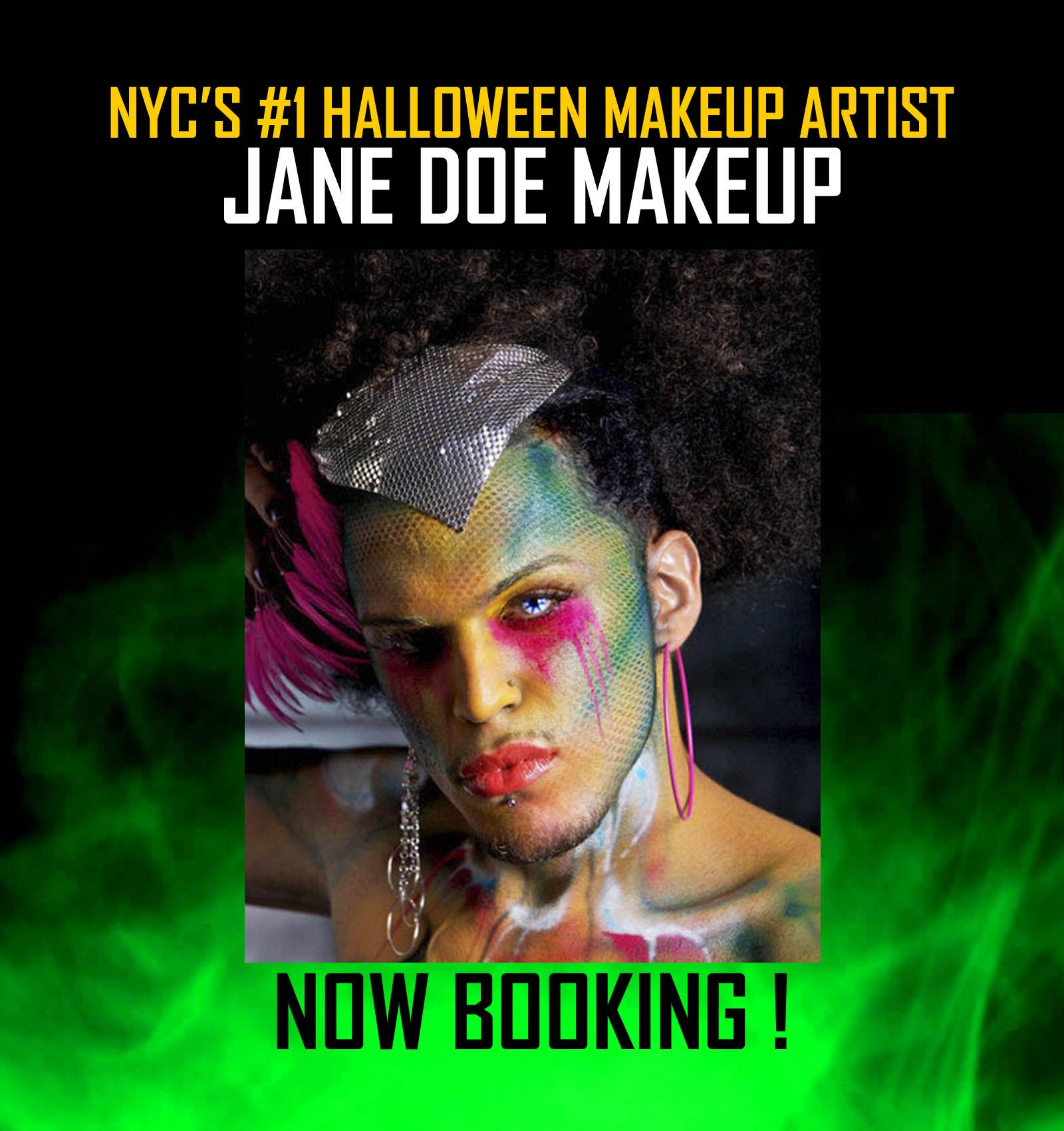 1 NYC HALLOWEEN MAKEUP ARTISTS Now Booking for October
