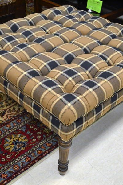 Awe Inspiring Large Square Tufted Upholstered Ottoman Coffee Table In Machost Co Dining Chair Design Ideas Machostcouk