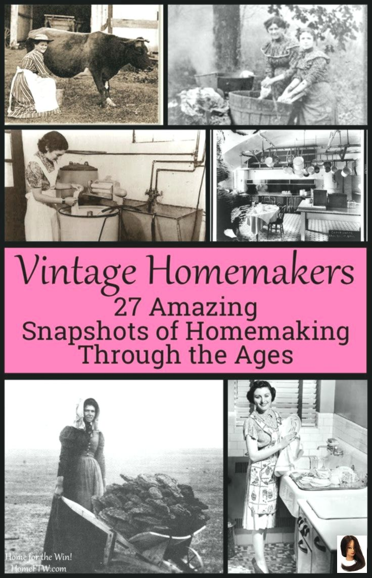 Vintage Homemakers {27 amazing snapshots of homemaking