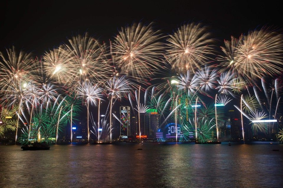 New Year's Eve Around the World Victoria harbour