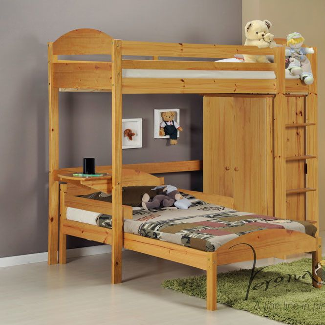 Pinede L Shaped Bunk Bed