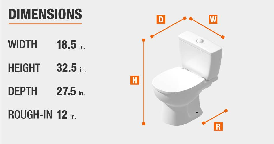 Glacier Bay Toilet Dimensions Bathroom Dimensions Glacier Bay One Piece Toilets