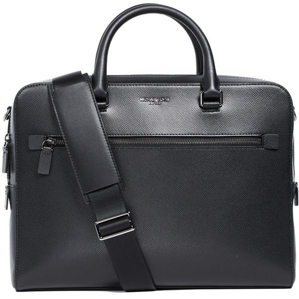 07312bab2d Michael Kors Harrison Leather Zip Briefcase ( 455) ❤ liked on Polyvore  featuring men s fashion