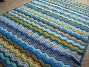 Moorland Ripple Blanket Blanket Blanket Yarn Crochet Blanket Afghan